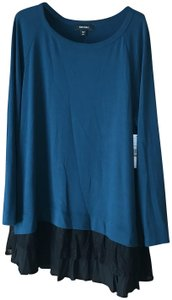 Karen Kane New With Tags Lace Inset Tunic-style Round Neckline Long Sleeves Sweater