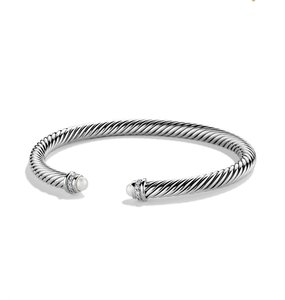 David Yurman 5mm Cable Diamonds & Pearl, New w/o tags