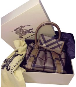 Burberry Satchel in Northfield Smoked Check