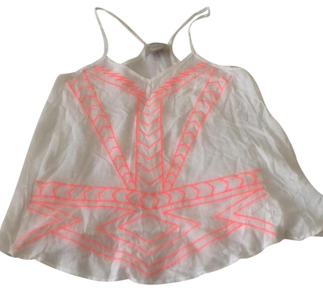Item - White Neon Embroidery Tank Top/Cami Size 8 (M)