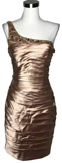 Item - Gold N506 New Designer Medium Sequin One Short Night Out Dress Size 8 (M)