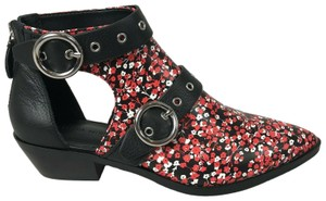 Rebecca Minkoff Floral Faux Leather Red Boots