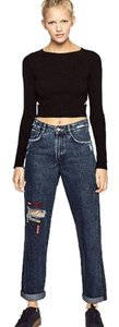 Trafaluc Relaxed Fit Jeans-Distressed