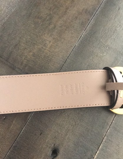Gucci Rose Leather belt with Double G buckle Image 4
