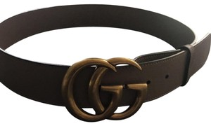 Gucci Rose Leather belt with Double G buckle