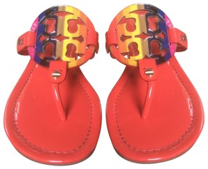 Tory Burch Tomato Red, Multi Sandals