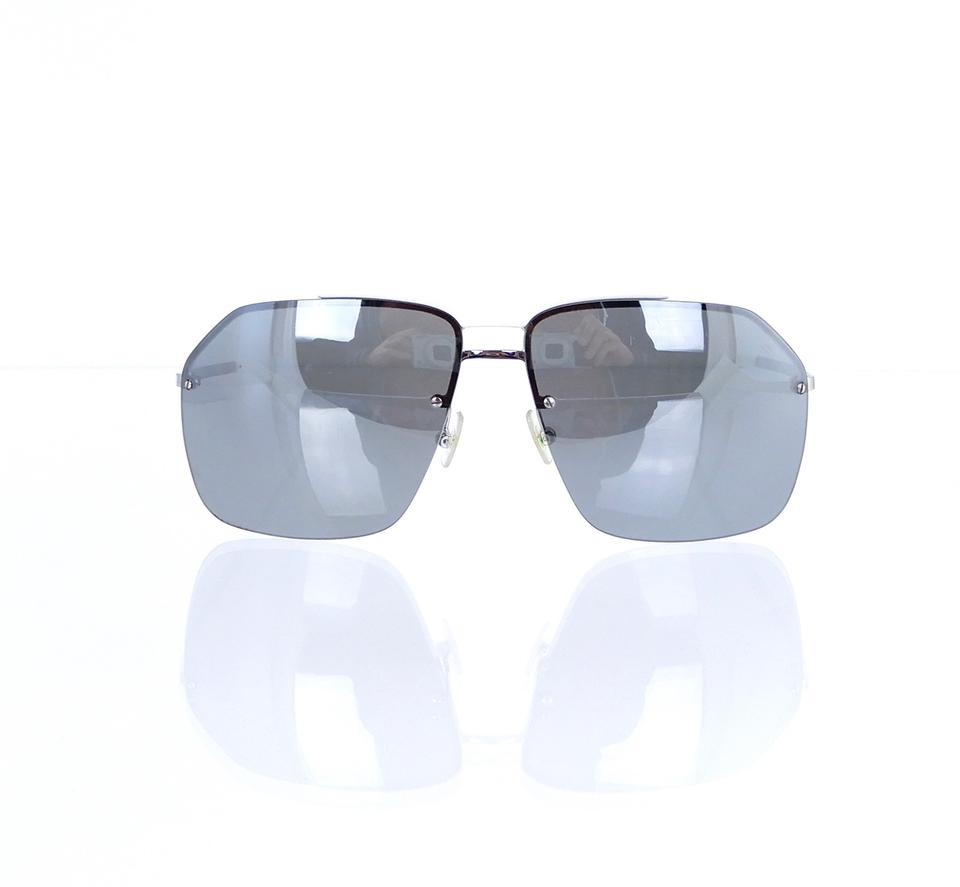 4d17677be847 Dior 0072/S YB73C White Shield Pilot Sunglasses 61mm Italy Image 0 ...