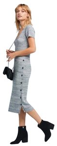 Gray Maxi Dress by Anthropologie Ribbed Knit Postmark Sweaterdress