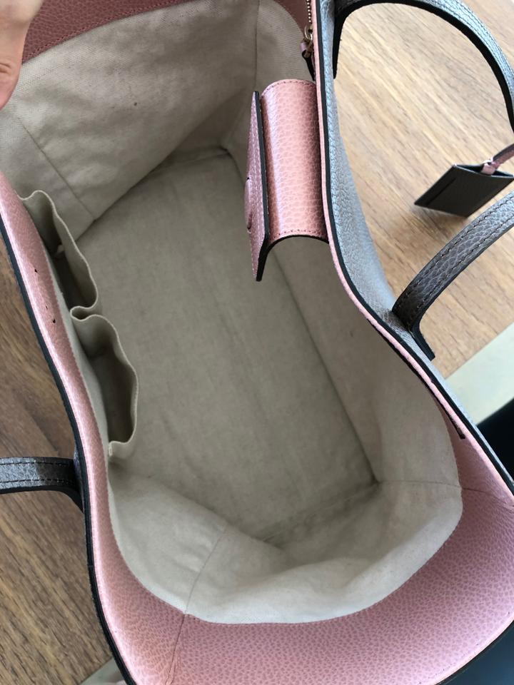 779530359d1 Gucci Bag Swing Taupe Signature Leather Tote - Tradesy
