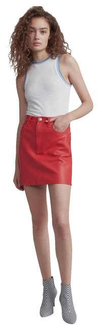Item - Red Moss Leather Skirt*nwt Skirt Size 2 (XS, 26)