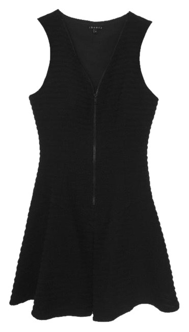 Preload https://img-static.tradesy.com/item/25439821/theory-black-ribbed-pleated-fit-and-flare-short-cocktail-dress-size-4-s-0-1-650-650.jpg