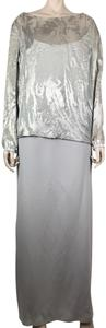 Amanda Smith Long Sleeve Stretchy Soft Scoop Neck Mother Of The Bride Dress