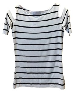 Bailey 44 Top white with black stripes