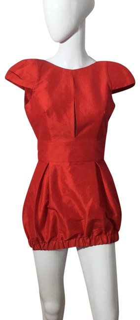 Item - Red F12101 Short Night Out Dress Size 6 (S)