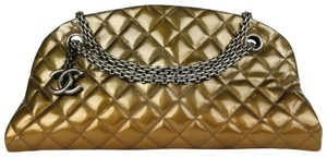 Chanel Patent Leather Bowling Chain Shoulder Bag