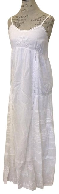 Item - White 106205 Long Casual Maxi Dress Size 6 (S)