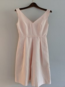 J.Crew Blush Cotton/Viscose/Polyester Kami In Classic Faille Traditional Bridesmaid/Mob Dress Size 2 (XS)