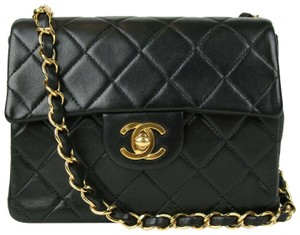 e01af975d046 Chanel Leather Mini Classic Flap Cross Body Bag