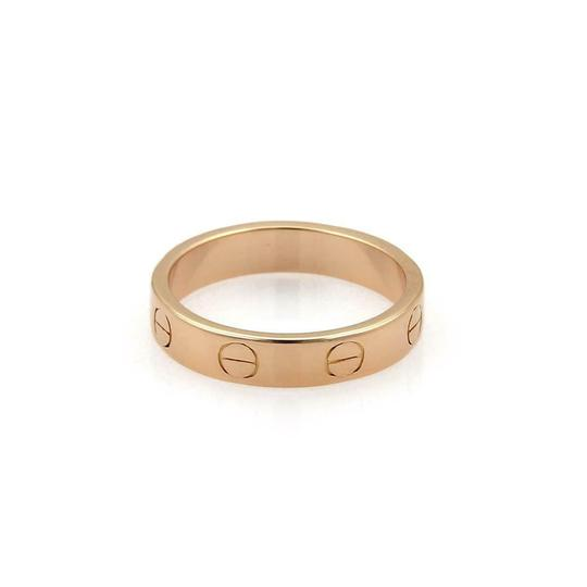 Cartier Mini Love 18k Rose Gold 3.5mm Band Ring Size 49-US 5 w/Cert Image 1
