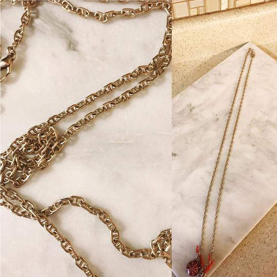 Céline Extremely Rare Vintage Long coral mushroom necklace and ring set Image 4