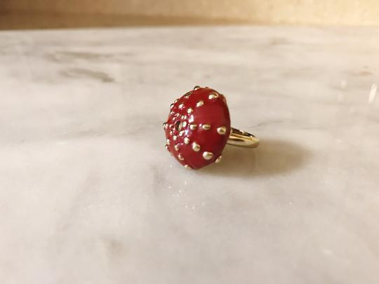 Céline Extremely Rare Vintage Long coral mushroom necklace and ring set Image 5