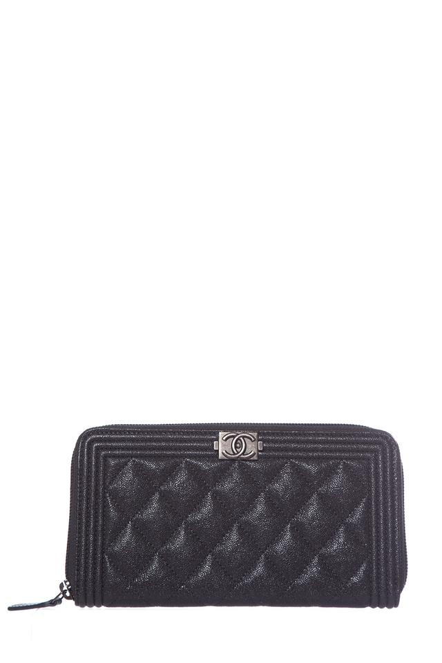 f384382f39d6 Chanel CHANEL Gray Boy Wallet Image 0 ...