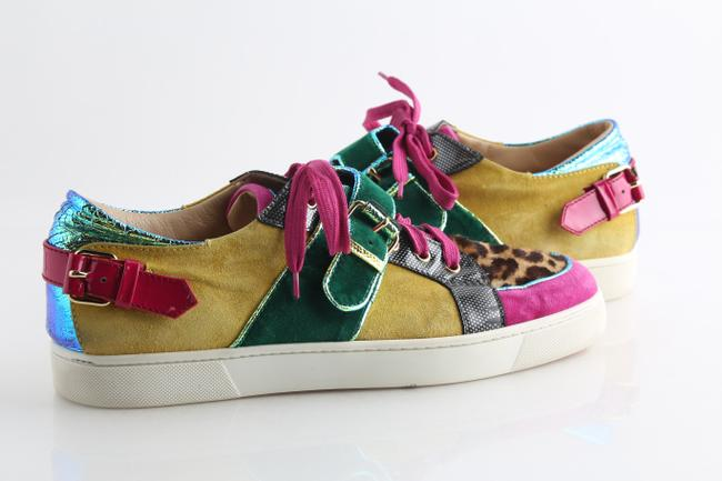 Item - Multicolor Suede/Patent with Python Low Sneakers Shoes