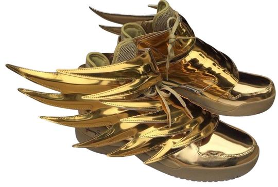 barajar Para llevar Favor  adidas Gold Jeremy Scott Wings 3.0 Sneakers Size US 12 Regular (M, B) -  Tradesy