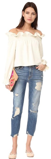 Item - Blue Distressed The Sinner In Ice Cream. Relaxed Fit Jeans Size 12 (L, 32, 33)