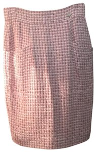 Chanel Skirt pink and white and black