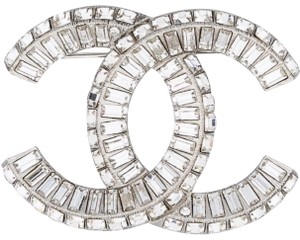 Chanel Large CC Baguette Crystal Flashy Brooch