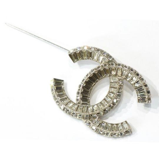 Chanel Large CC Baguette Crystal Flashy Brooch Image 10