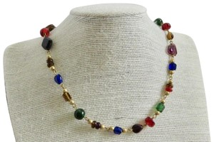 Anne Klein anne klein II necklace Jewel tone beads glass gold plated beads