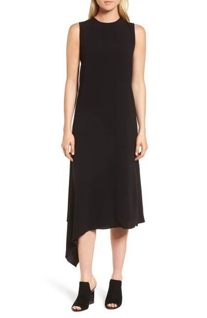 Lewit Black Drape Midi Mid-length Casual Maxi Dress Size 16 (XL, Plus 0x) Lewit Black Drape Midi Mid-length Casual Maxi Dress Size 16 (XL, Plus 0x) Image 1