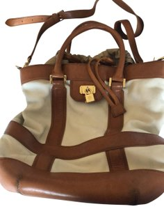 Tory Burch cream and camel Travel Bag
