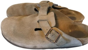 Birkenstock Boston Closed Toe Suede Mules