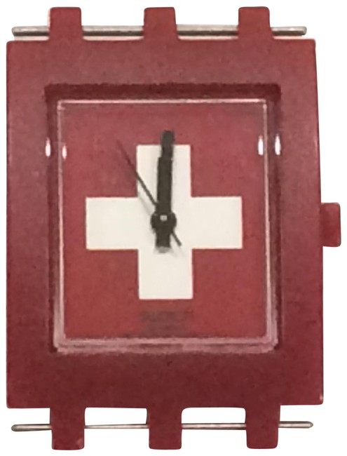 Item - Red Square - Swiss Flag Watch