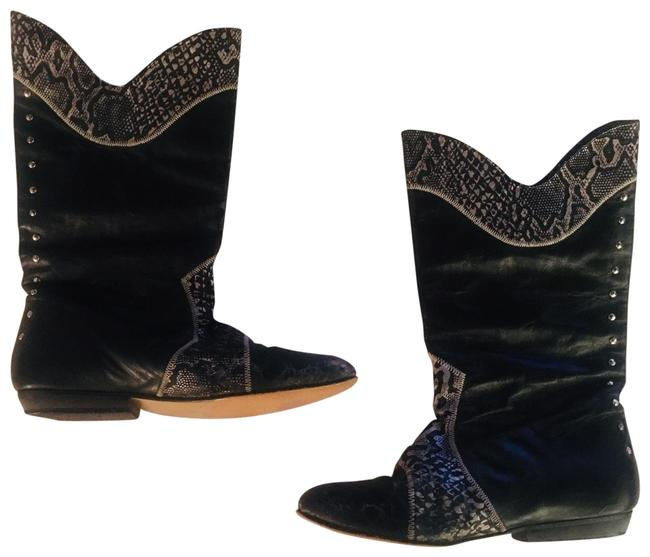 Item - Black 80's Vintage Suede Leather Boots/Booties Size US 7 Regular (M, B)