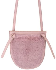 Madewell Leather Faux Fur Soft Pastel Cross Body Bag
