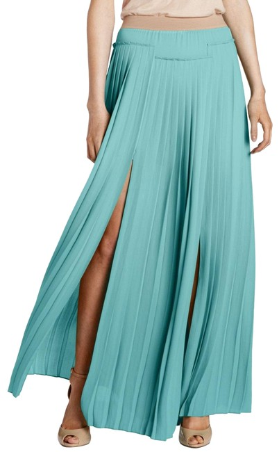 Item - Aqua Dillon Pleated Paneled Skirt Size 8 (M, 29, 30)
