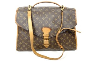 Louis Vuitton Monogram Handbag Briefcase brown Messenger Bag