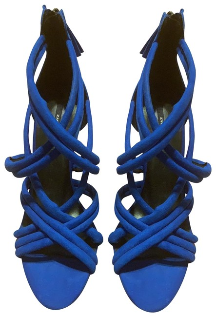 Item - Electric Blue Strappy Heel Formal Shoes Size US 7 Regular (M, B)
