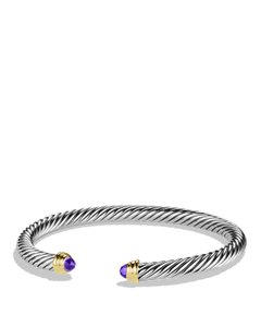 David Yurman Sterling silver David Yurman Cable Classics Amethyst cuff