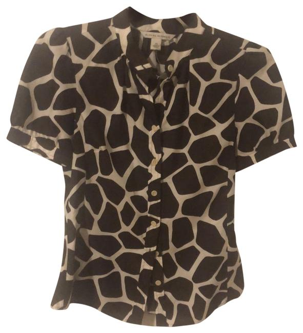 Item - Giraffe (Brown and Cream) Blouse Size 2 (XS)