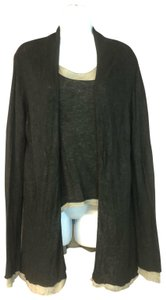 40f0db01c179 Eileen Fisher Cardigan Top BLACK/BROWN