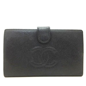 Chanel CHANEL CC Black Caviar Skin Long Bifold Wallet - item med img