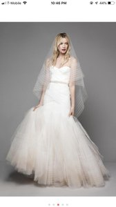 Bliss by Monique Lhuillier Tulle Mermaid Gown Formal Wedding Dress Size 6 (S)