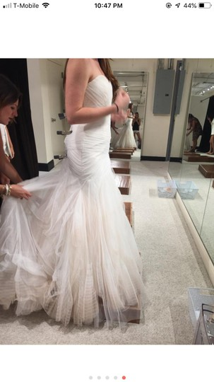 Bliss by Monique Lhuillier Tulle Mermaid Gown Formal Wedding Dress Size 6 (S) Image 8