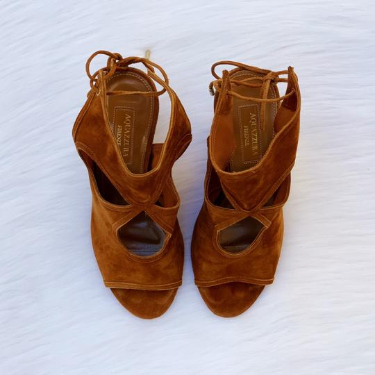 Aquazzura Cognac Sandals Image 4