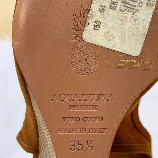 Aquazzura Cognac Sandals Image 7